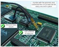 A gooseneck strain relief helps ensure that solder-in probe tips stay securely attached