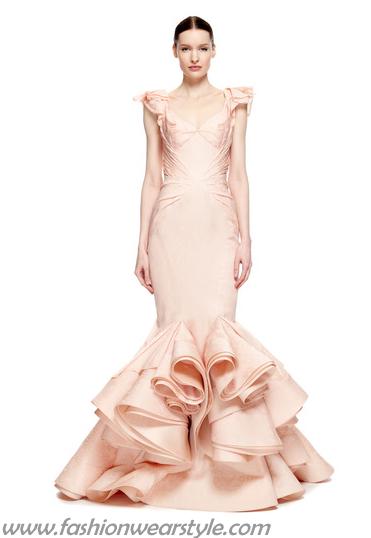 Honey Style Zac-Posen Mermaid Dress Gowns www.fashionwearstyle.com