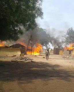 Troops Sets Boko Haram Hideout Ablaze, Killed Many, Rescues Hostages In Clearance Operations