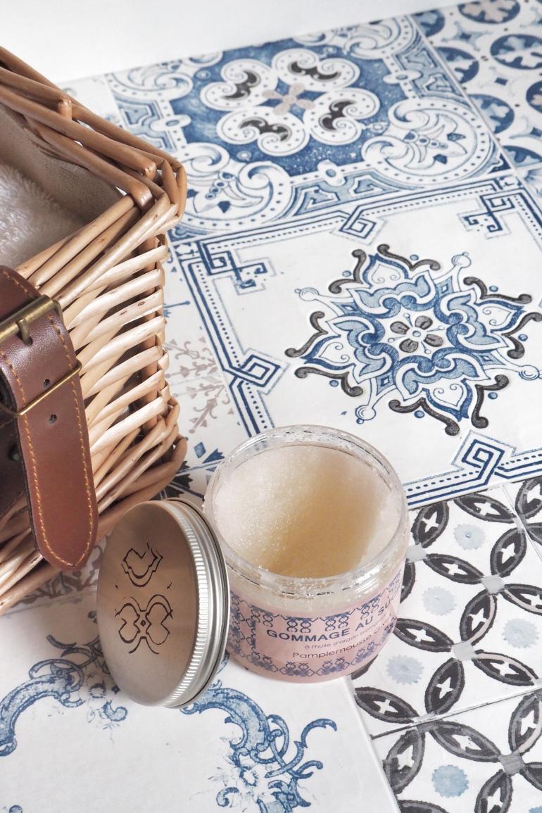 Gommage au sucre artisanal pamplemousse givré l'Art du bain