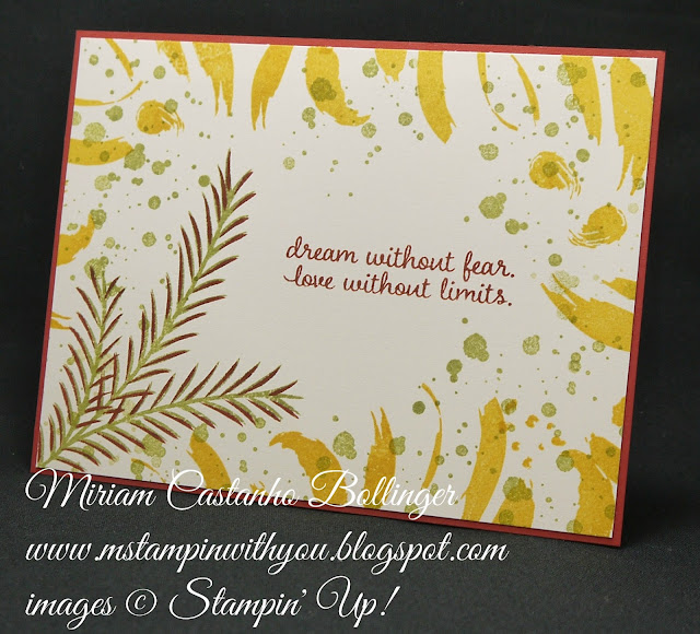Miriam Castanho-Bollinger, #mstampinwithyou, stampin up, demonstrator, pp, all occasions card, masculine card, playful backgrounds stamp set, picture perfect stamp set, swirly bird stamp set, christmas pines stamp set, su