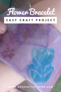 Flower Bracelet: Easy Craft for Toddlers or Preschoolers