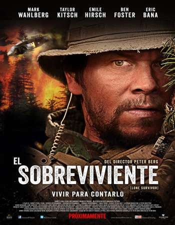 Poster Of Lone Survivor 2014 Dual Audio 450MB BRRip 720p ESubs HEVC Free Download Watch Online downloadhub.net