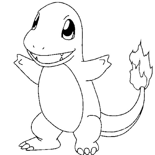 Charmander Pokemon Go Free Coloring Pages