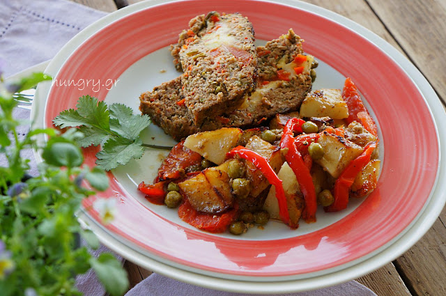Meatloaf with Mixed Vegetables & Cheese