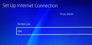 PS4 Proxy server settings