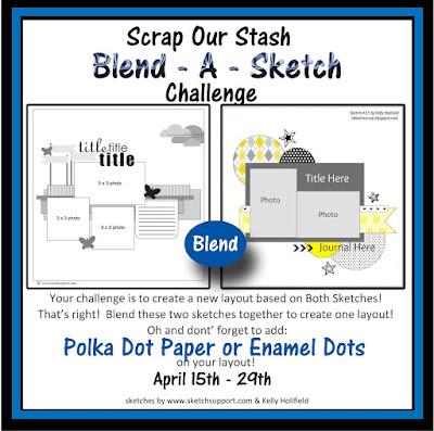 April Blend-A-Sketch Cahllenge