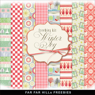 Freebies Kit of Paper - Winter Joy
