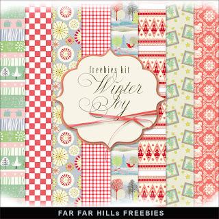 Freebies Kit of Paper - Winter Joy
