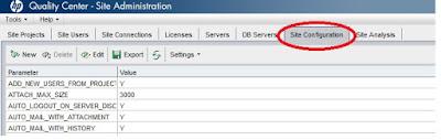 ALM: Site Admin Site Configuration