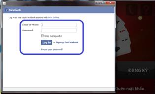 tạo tài khoản iwin bằng facebook