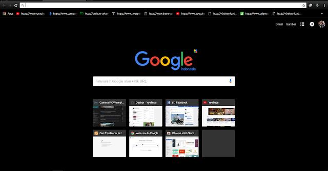 Cara Mengganti Tema pada Google Chrome menjadi Gelap