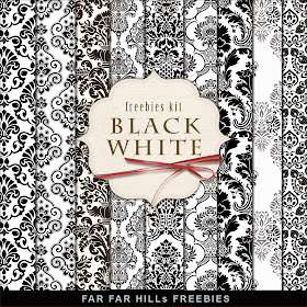 far far hill free database of digital illustrations and papers freebies papers kit black. Black Bedroom Furniture Sets. Home Design Ideas