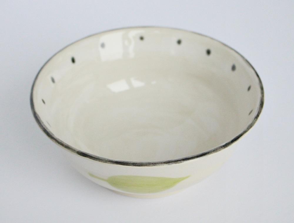 Polka Dot Pottery Bowl