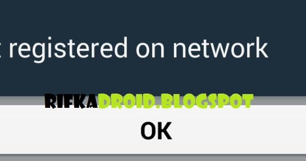 how to fix no registered on network