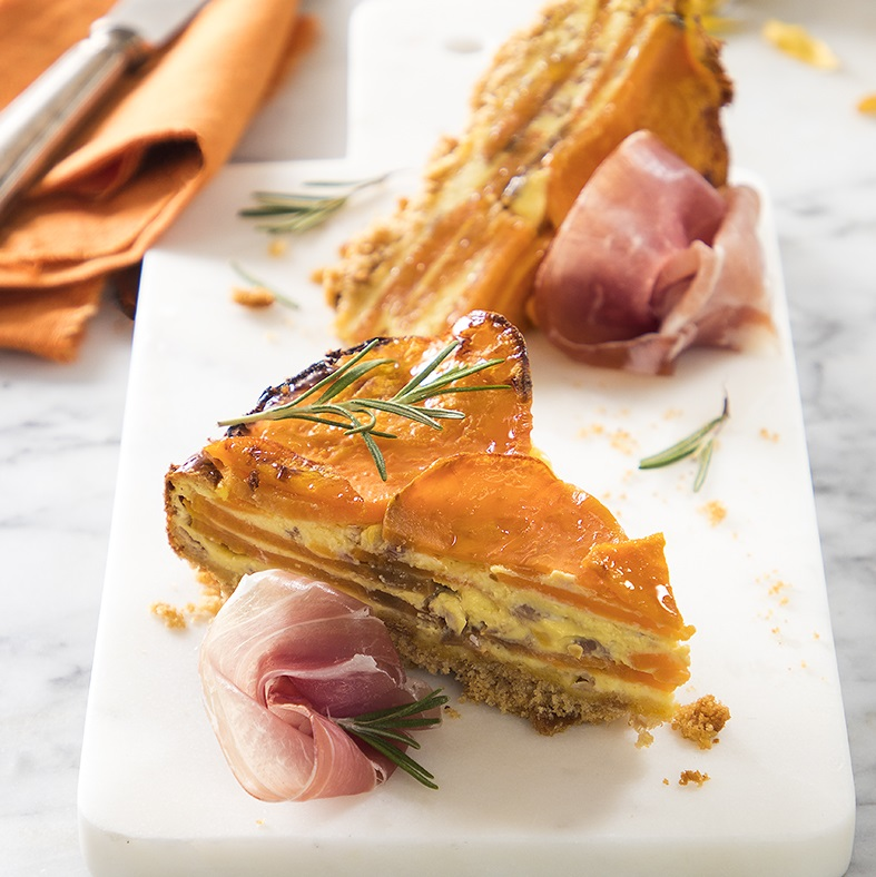 Sweet Potato Pie with Parma Ham and Robiola Cheese