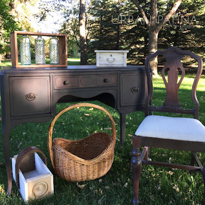 Antique desk + chair set and other uniquities