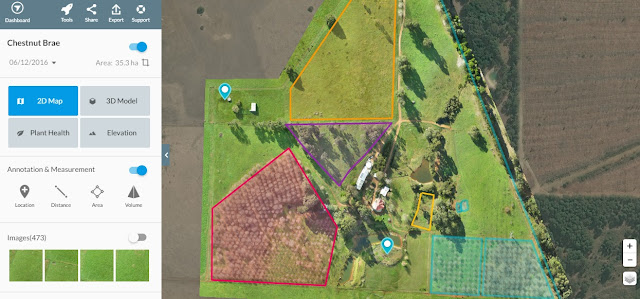 Chestnut Brae Drone scan Small farm planning map using Drone Deploy - Image 11