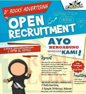 Lowongan Kerja Sales Promotion SPB dan SPG di D Rocks Advertising