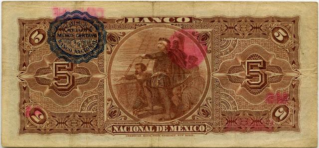 Mexico Billete de cinco pesos