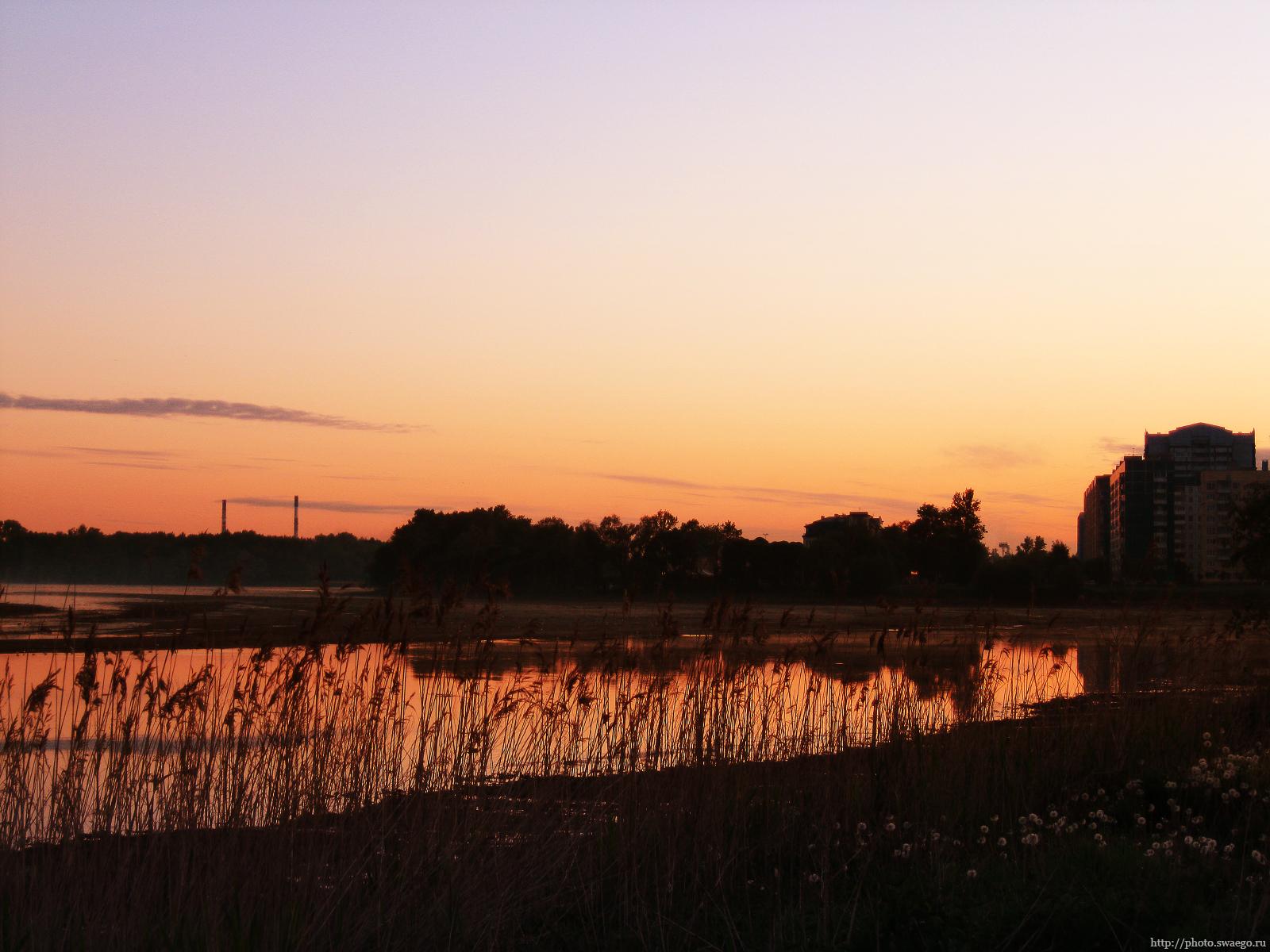 Рассвет в Колпино. Трубы
