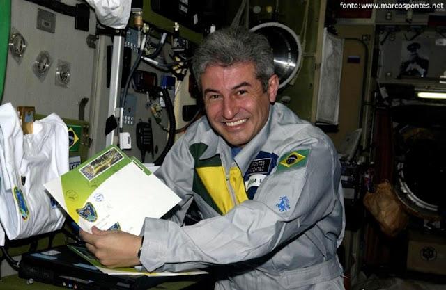 Marcos Pontes a bordo da Estação Internacional Espacial