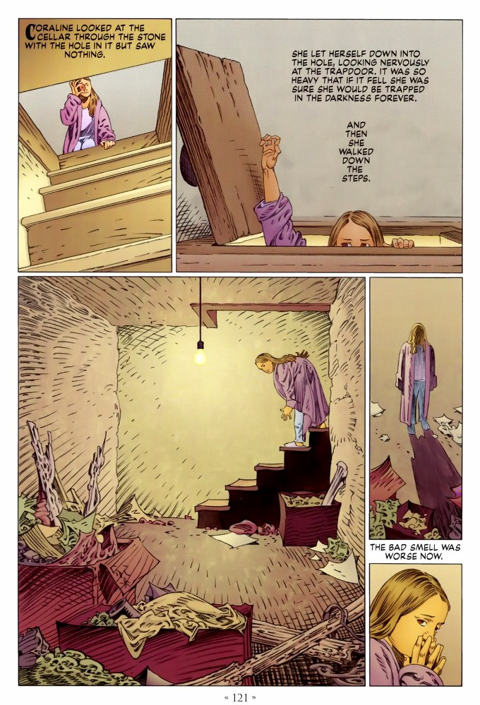 Read page 121, from Nail Gaiman and P. Craig Russell's Coraline graphic novel