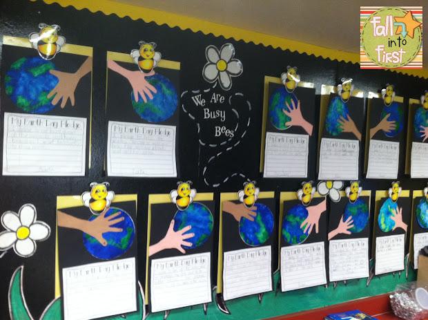 Earth Day Bulletin Board Hands