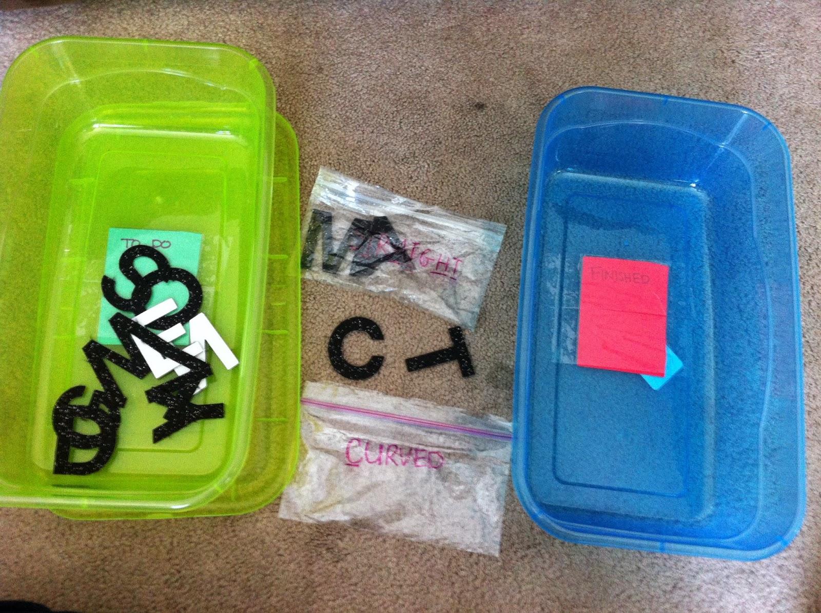 Cabin Fever=Work Task Boxes | Fun in ECSE