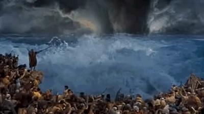 O mar se abre para Israel