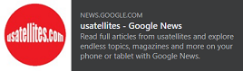 Usatellites Now Available on Google News