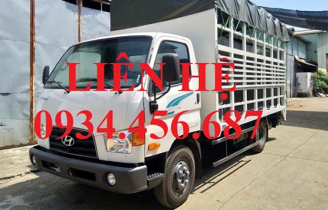 Giá xe tải 7 tấn Hyundai 110s thùng chở xe máy 2 tầng