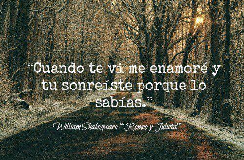 Romeo y Julieta tal vez por eso siempre me siento feliz