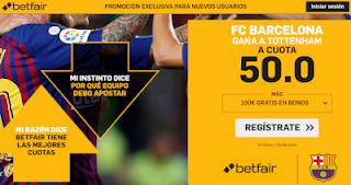 betfair supercuota champions Barcelona gana a Tottenham 11 diciembre