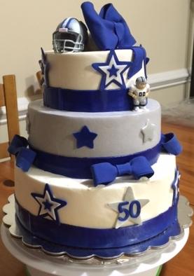 Dallas Cowboy Inspired 50th Birthday Cake