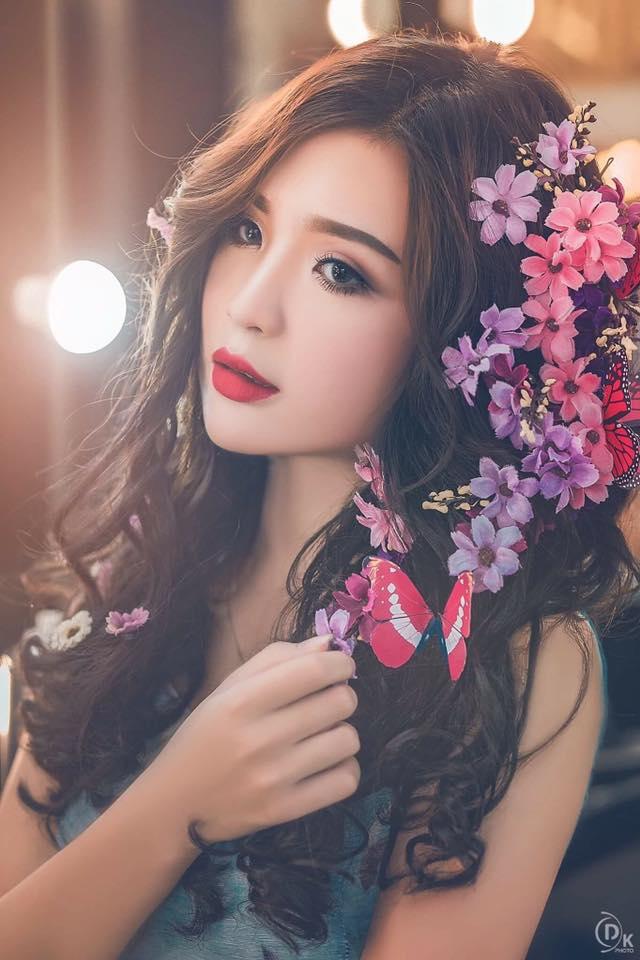 Vẻ đẹp thùy mị của hot girl 17 tuổi với 4 năm kinh nghiệm làm người mẫu ảnh
