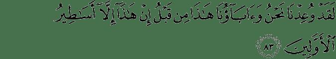 Surat Al Mu'minun ayat 83