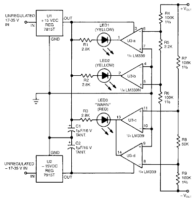 Power Supply Balance Indicator Circuit Diagram