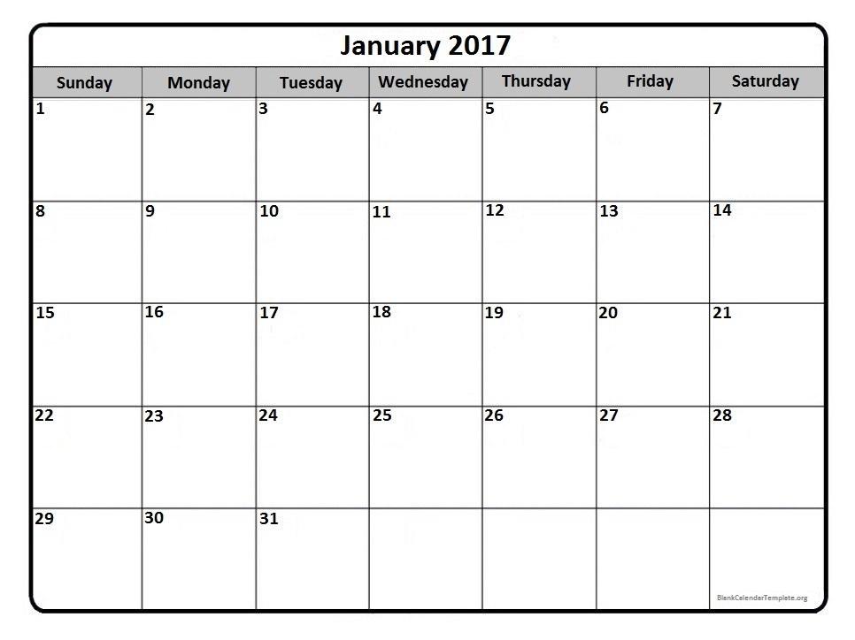 calendar blank templates