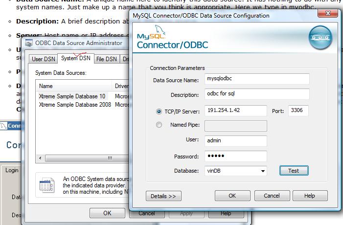 VB net with Crystal Report and MySQL using ADO & ODBC