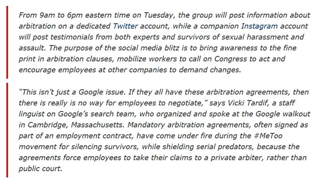 Google Employees alliance against their bosses