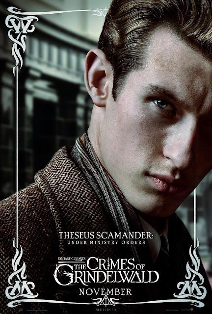 Pôsteres dos personagens de 'Os Crimes de Grindelwald' são divulgados | Teseu Scamander | Ordem da Fênix Brasileira