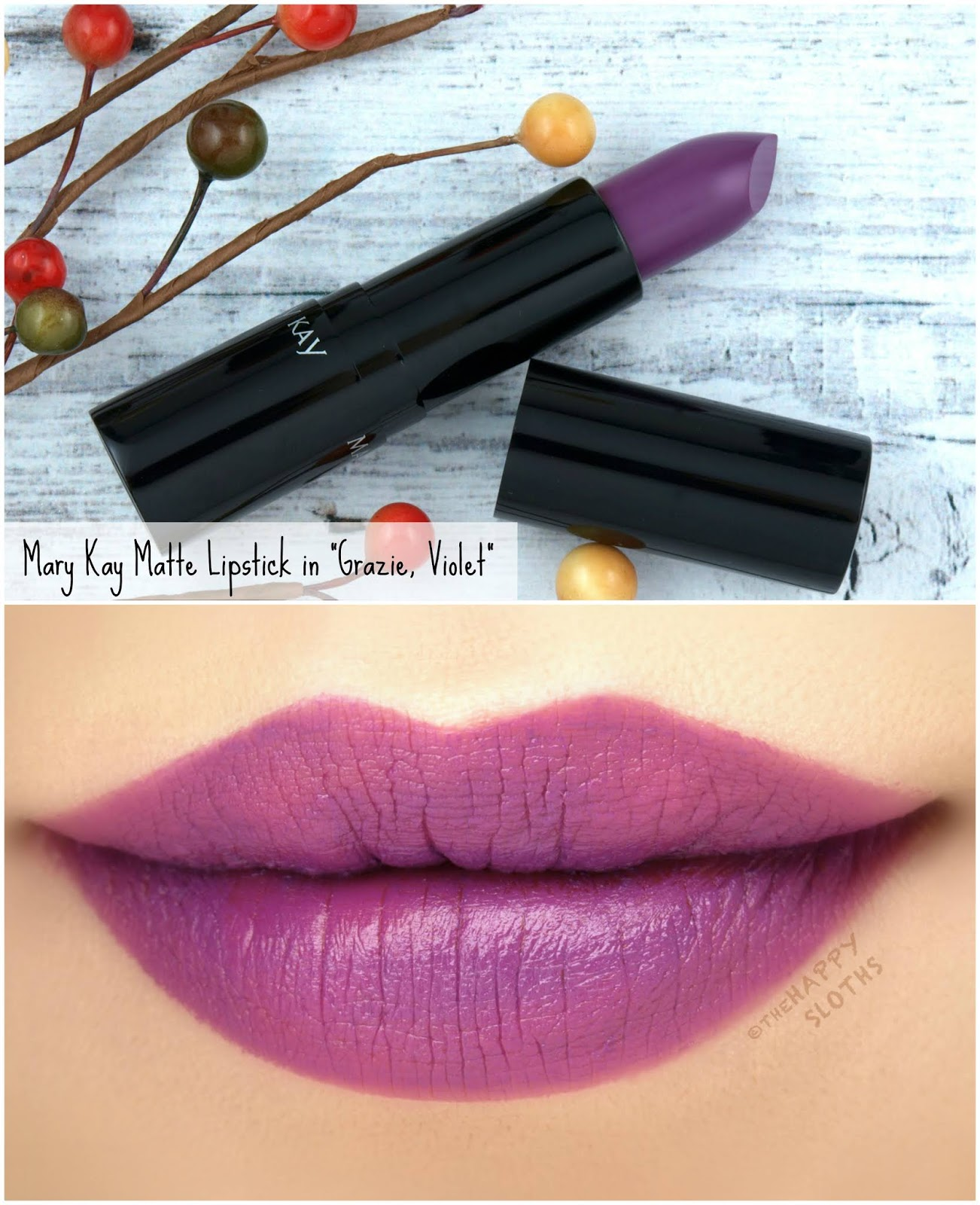 "Mary Kay | Fall 2018 Matte Lipstick in ""Grazie, Violet"": Review and Swatches"