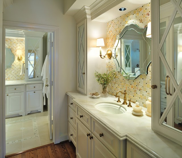 Elegant Bathroom Makeovers: Mix And Chic: Makeover Miracle- From Outdated To