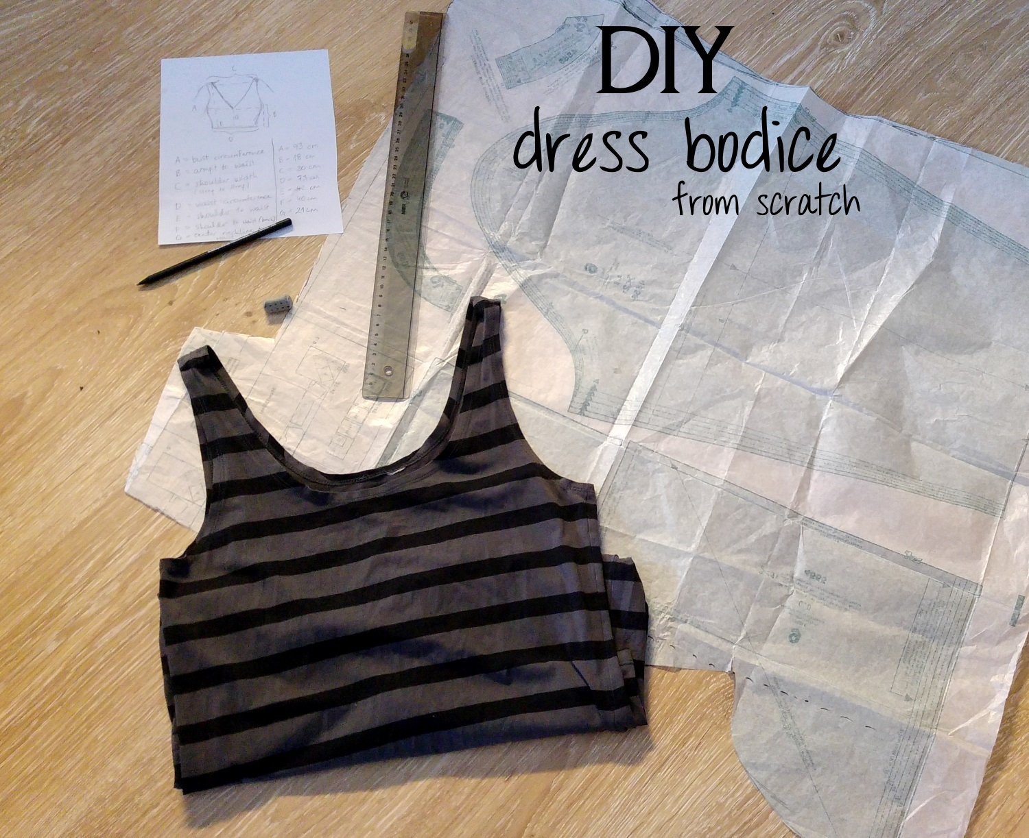 Sew scoundrel tutorial fully lined princess seam bodice for Making a shirt from scratch