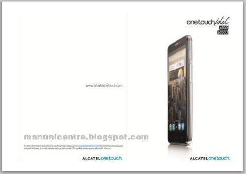 Alcatel One Touch Idol Manual Cover