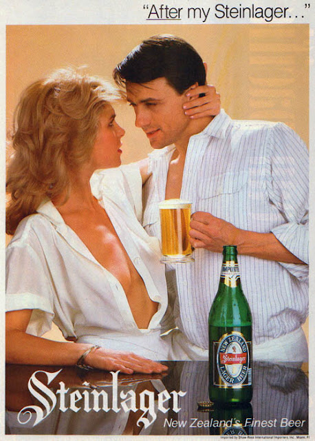 sexist steinlager advertising from the 1980s