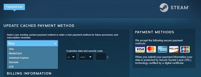 Pembayaran di Steam