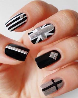 diseño de uñas negro