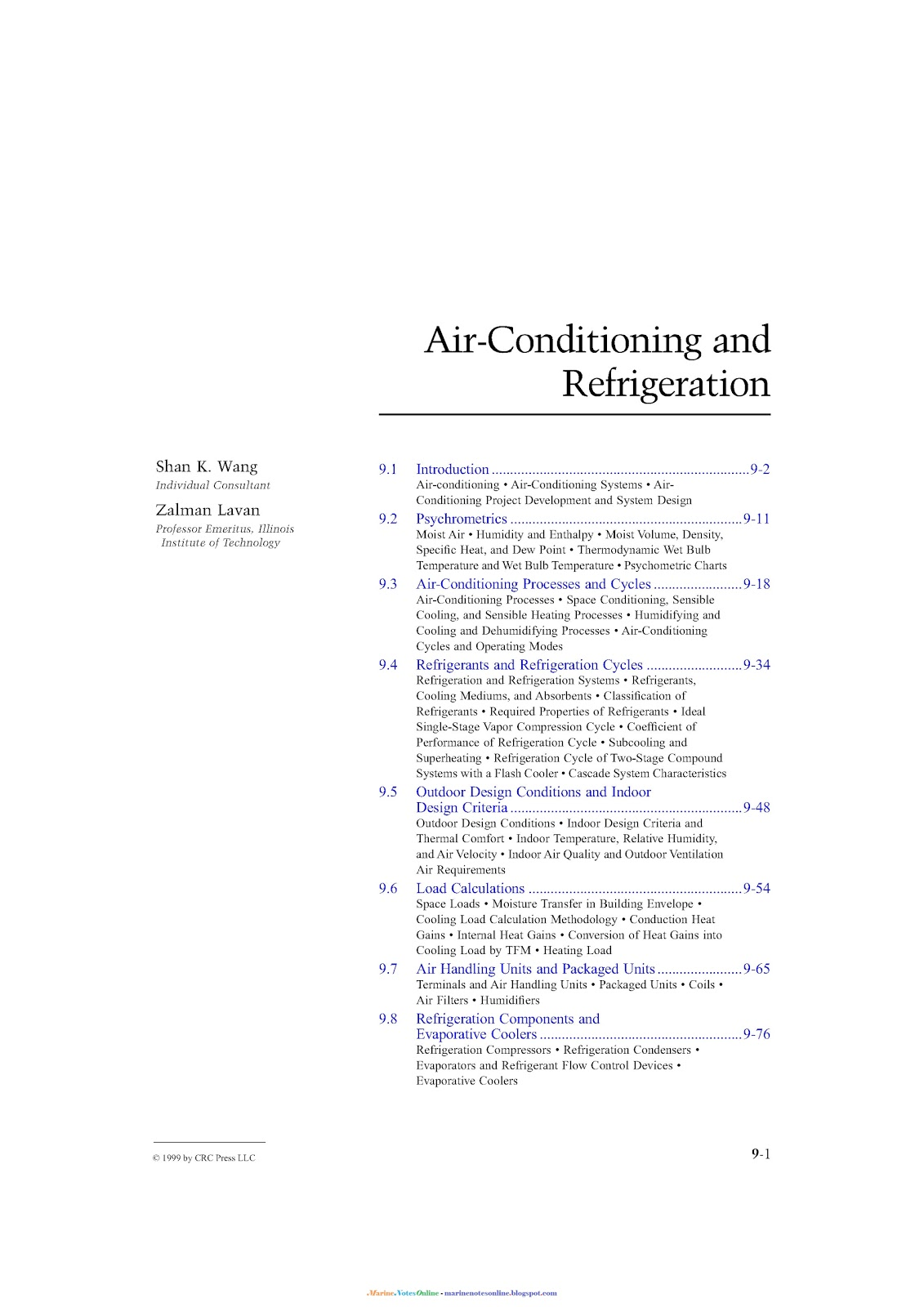 Air Conditioning And Refrigeration Marine Notes
